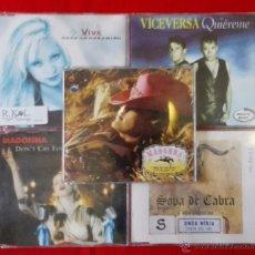 Discos de vinilo: LOTE DE 5 EPS. VARIADOS - MADONNA X2- VICEVERSA - VIVA - SOPA DE CABRA. Lote 54758698