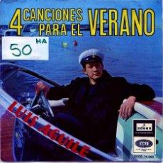 Dischi in vinile: LUIS AGUILE / EN VERANO / HE NACIDO PARA TI / POR EL CAMINO DE MEJICO + 1 (EP 1965). Lote 54759003