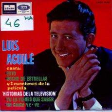 Dischi in vinile: LUIS AGUILE / CHICO YE-YE / NOCHE DE ESTRELLAS + 2 (EP 1965). Lote 54759103