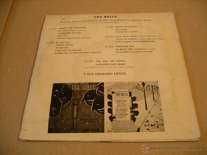 Discos de vinilo: CONJUNTO VOCAL THE BELLS EP 45 RPM ROCK AROUND THE CLOCK BELTER ESPAÑA - Foto 2 - 54762600