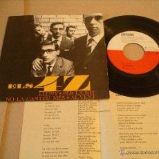 Disques de vinyle: ELS 4 Z EP 45 RPM LLUNY RAIMON EDIGSA EDIPHONE ESPAÑA 1964 + LETRAS. Lote 54763079