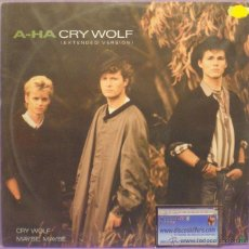 Discos de vinilo: A-HA - CRY WOLF (EXTENDED VERSION) - MAXI SINGLE 12' 45 RPM 1986. Lote 54768497