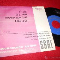 Discos de vinilo: JAE'S GROUP SILVIA/ES EL AMOR/ARABESCA/ROMANZA PARA SAXO EP 1974 SANDIEGO PROMO RARO. Lote 54775470