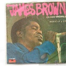 Discos de vinilo: JAMES BROWN - WORLD (MUNDO) (PART 1) / WORLD (PART 2) (1970). Lote 54775495