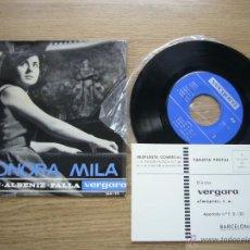 Discos de vinilo: LEONORA MILA EP VERGARA 1964 CHOPIN ISAAC ALBENIZ MANUEL FALLA PIANO SCHUMANN MENDELSSOHN BACH. Lote 54782575