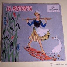 Discos de vinilo: SINGLE LA PASTORETA (DISCO LIBRO CON 8 PÁGINAS) COLUMBIA-1959 (VER FOTOS). Lote 54784757