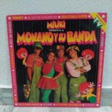 Discos de vinilo: DISCO LP MILIKI MONANO Y SU BANDA - INFANTIL + GRAN POSTER DE REGALO. Lote 54785967