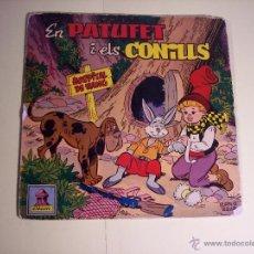 Discos de vinilo: SINGLE - EN PATUFETI ELS CONILLS (CUENTO INFANTIL EN CATALÁN) ODEON-1958. Lote 54786944