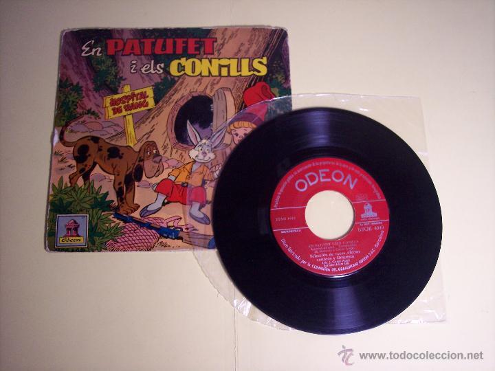 Discos de vinilo: SINGLE - EN PATUFETI ELS CONILLS (CUENTO INFANTIL EN CATALÁN) ODEON-1958 - Foto 2 - 54786944