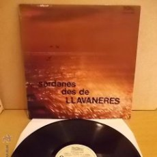 Discos de vinilo: COBLA LA PRINCIPAL DE LA BISBAL. SARDANES DES DE LLAVANERES. LP / AUDIOVISUALS-1986. ***/***. Lote 54789405