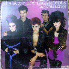 Discos de vinilo: ALASKA Y LOS PEGAMOIDES. GRANDES ÉXITOS. HISPAVOX, ESP. 1982 LP + ENCARTE. Lote 54792207