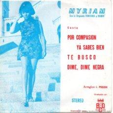 Discos de vinilo: MYRIAM CON LA ORQUESTA FANTASIA Y NARBO, EP, POR COMPASION + 3 , AÑO 1971 PROMO. Lote 54801329