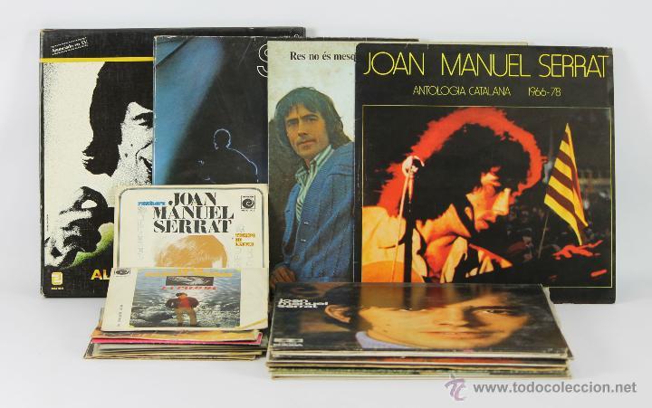 COLECCIÓN DE 10 SINGLES Y 11 LP DE JOAN MANEL SERRAT. AÑOS 60/80. BUEN ESTADO. (Música - Discos - Singles Vinilo - Solistas Españoles de los 70 a la actualidad)