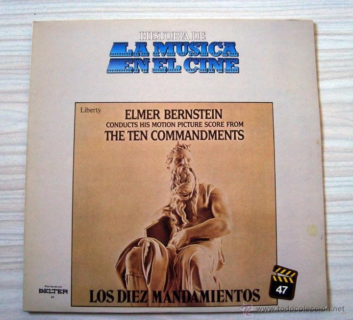 MUSICA, LP DISCO VINILO BANDA SONORA LOS DIEZ MANDAMIENTOS, THE TEN COMMANDMENTS, CINE (Música - Discos - LP Vinilo - Bandas Sonoras y Música de Actores )