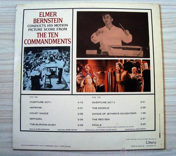 Discos de vinilo: Musica, LP disco vinilo banda sonora los diez mandamientos, the ten commandments, cine - Foto 2 - 54810255