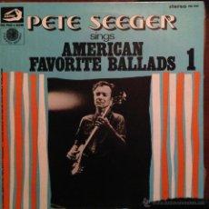 Discos de vinilo: PETE SEEGER SING AMERICAN FAVORITE BALLADS - 4 LP . Lote 54813252