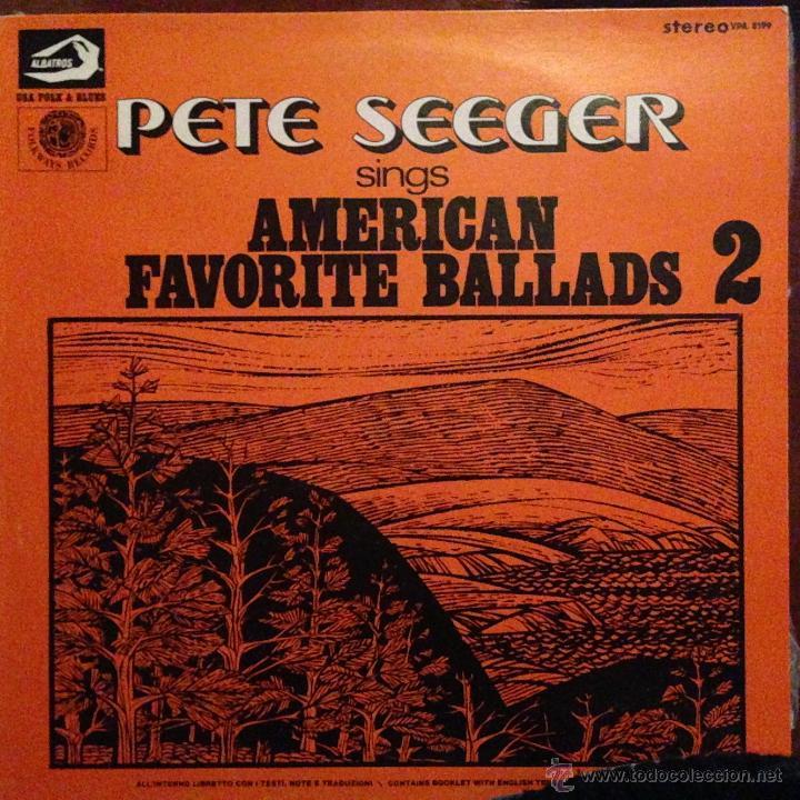 Discos de vinilo: PETE SEEGER SING AMERICAN FAVORITE BALLADS - 4 LP - Foto 2 - 54813252