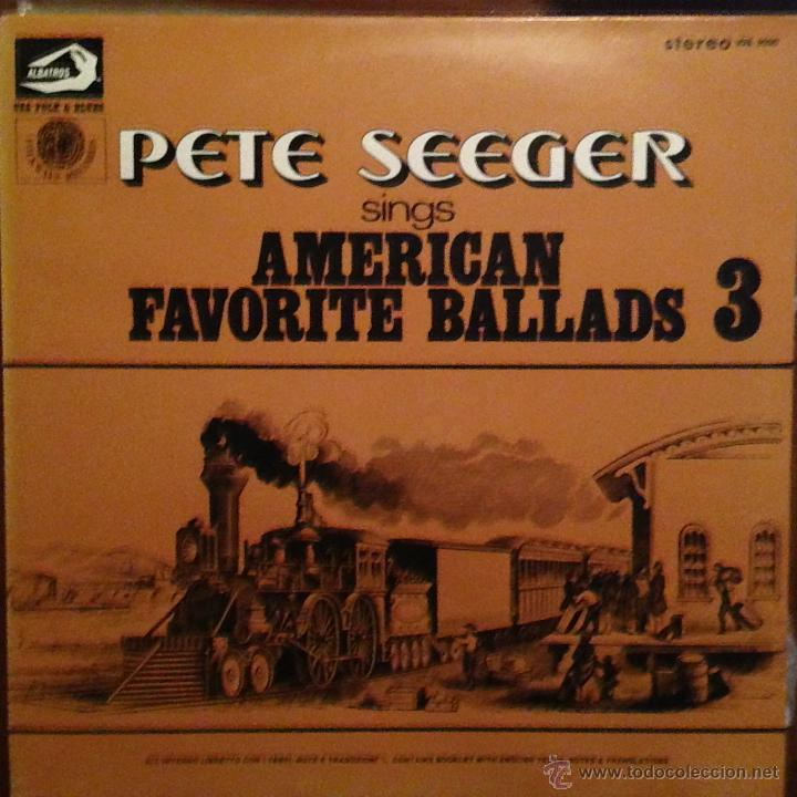 Discos de vinilo: PETE SEEGER SING AMERICAN FAVORITE BALLADS - 4 LP - Foto 3 - 54813252