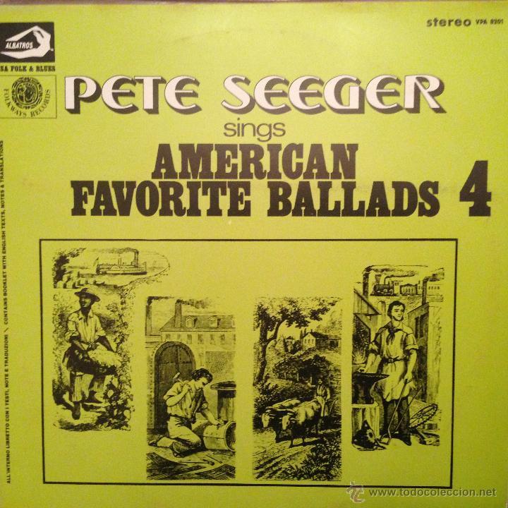 Discos de vinilo: PETE SEEGER SING AMERICAN FAVORITE BALLADS - 4 LP - Foto 4 - 54813252