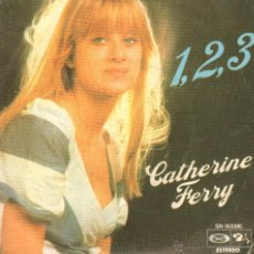 Discos de vinilo: CATHERINE FERRY-1,2,3 / PETIT JEAN / SINGLE MOVIE PLAY DE 1976 RF-61. Lote 103927255