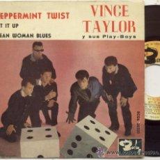 Discos de vinilo: VINCE TAYLOR / PEPPERMINT TWIST / EP 45 RPM / EDITADO POR BARCLAY ESPAÑA. Lote 54828518