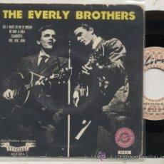 Discos de vinilo: THE EVERLY BROTHER / BE BOB A LULA / EP 45 RPM / EDITADO POR HELIODOR. Lote 54828888