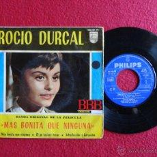 Discos de vinilo: ROCIO DURCAL - B.S.O. MÁS BONITA QUE NINGUNA // EP 4 CANCIONES // 1965 . Lote 54831664