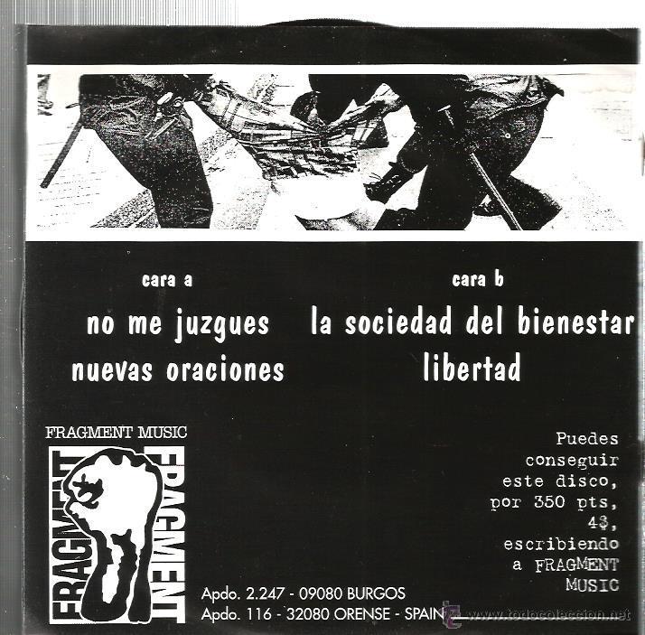 Discos de vinilo: EP ESCUELA DE ODIO : NO ME JUZGUEZ + 3 - Foto 2 - 54832832
