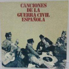 Discos de vinilo: CANCIONES DE LA GUERRA CIVIL -- 1978. Lote 54833131