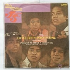 Discos de vinilo: THE JACKSON 5 - LITTLE BITTY PRETTY ONE (PEQUEÑA BITTY) / IF I HAVE TO MOVE A MOUNTAIN (1972). Lote 54837563