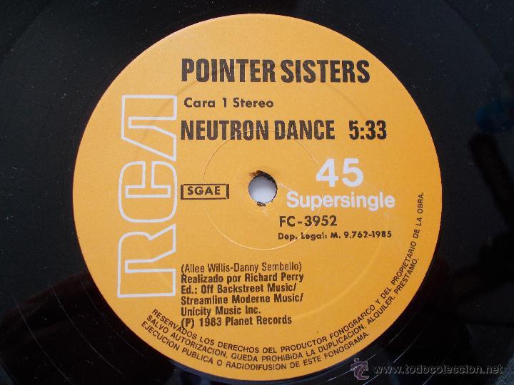 Discos de vinilo: POINTER SISTERS. NEUTRON DANCE. BANDA SONORA DE LA PELICULA SUPERDETECTIVE EN HOLLYWOOD. MAXI 12 - Foto 2 - 54839933