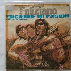 Discos de vinilo: JOSE FELICIANO - LIGHT MY FIRE (THE DOORS) (ENCIENDE MI PASION) / CALIFORNIA DREAMIN' (1968). Lote 54840030