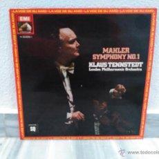 Discos de vinilo: DISCO LP MAHLER SYMPHONY Nº1 - LA VOZ DE SU AMO - EMI - 1981. Lote 54840292