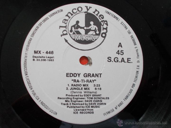 Discos de vinilo: EDDY GRANT. RA-TI-RAY MAXI 12 - Foto 2 - 54840441