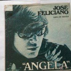 Discos de vinilo: JOSE FELICIANO (EN ESPAÑOL) - ANGELA / WILLFUL STRUT (INSTRUMENTAL) (1976). Lote 54840780