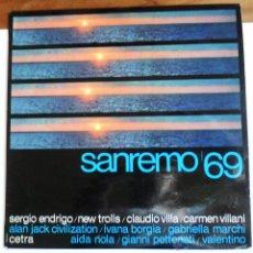 Disques de vinyle: LP / SANREMO 69 - VARIOS / CETRA - ITALIA / XIX FESTIVAL DELLA CANZONE ITALIANA.. Lote 54847503