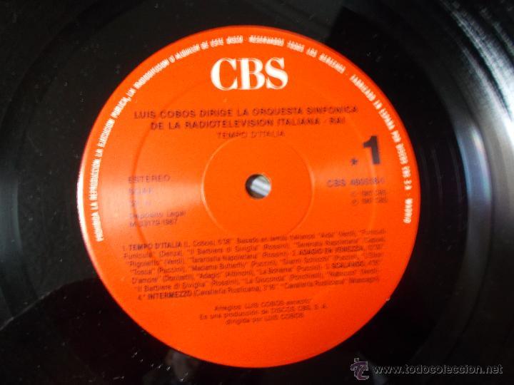 Discos de vinilo: LUIS COBOS TEMPO D´ITALIA - Foto 2 - 54848657
