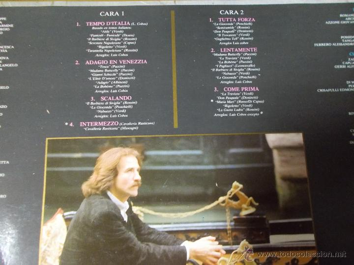 Discos de vinilo: LUIS COBOS TEMPO D´ITALIA - Foto 3 - 54848657