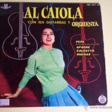 Discos de vinilo: EP AL CAIOLA CON SUS GUITARRAAS Y ORQUESTA (PEPE / APACHE / + 2) HISPAVOX-1961. Lote 54850371