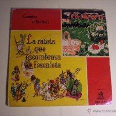 Discos de vinilo: SINGLE (CUENTOS INFANTILES) - LA RATETA QUE ESCOMBRAVA L'ESCALETA / EN PATUFET) ODEON-19588. Lote 54850443
