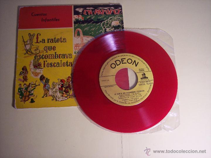 Discos de vinilo: SINGLE (CUENTOS INFANTILES) - LA RATETA QUE ESCOMBRAVA LESCALETA / EN PATUFET) ODEON-19588 - Foto 2 - 54850443