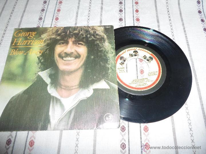 GEORGE HARRISON BLOW AWAY (Música - Discos - Singles Vinilo - Pop - Rock - Extranjero de los 70)