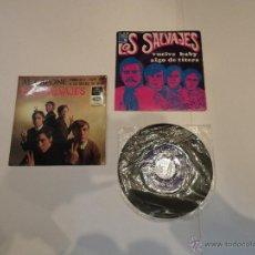 Discos de vinilo: LOS SALVAJES - LOTE DE 1 EP Y 2 SINGLES. Lote 54856773