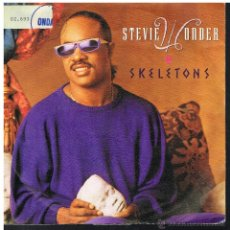 Discos de vinilo: STEVIE WONDER - SKELETONS (2 VERSIONES) - SINGLE 1987 - PROMO. Lote 54864350