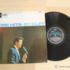 Discos de vinilo: MORE HITS BY CLIFF LP MONO CLIFF RICHARD COLUMBIA MADE IN ENGLAND SX 1737 LABEL BLACK AND BLUE. Lote 54864447