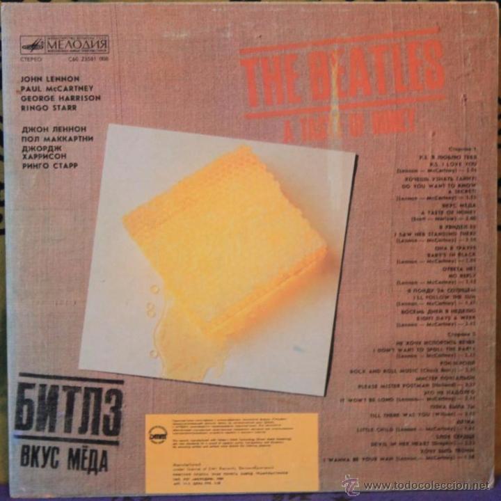 Discos de vinilo: THE BEATLES - A TASTE OF HONEY - LP - EMI / LA MELODIA 1980 RUSIA - Foto 2 - 262080155