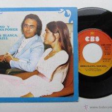 Disques de vinyle: AL BANO Y ROMINA POWER CANTAN EN ESPAÑOL * ARENA BLANCA MAR AZUL * AÑO 2000 * SINGLE 1975. Lote 54864788