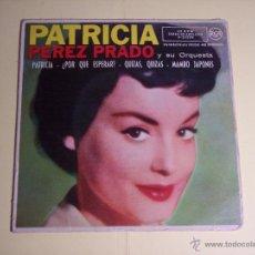 Discos de vinilo: EP PATRICIA PEREZ PRADO Y SU ORQUESTA (PATRICIA / ¿POR QUE ESPERAR? / + 2) RCA-1958. Lote 54865374