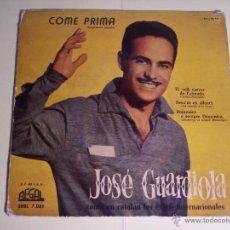 Discos de vinilo: EP JOSE GUARDIOLA CANTA EN CATALÁN (COME PRIMA -LA PRIMERA VAGADA- / + 3) REGAL-1958. Lote 54865454