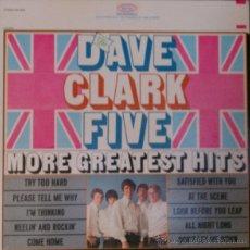 Discos de vinilo: THE DAVE CLARK FIVE - MORE GREATEST HITS 66 !! GARAGE ROCK !! RARA 1ª EDIC ORG USA EPIC, EXC. Lote 54870373